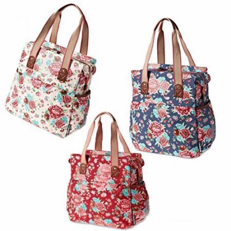 Sacoche shopper Bloom basil