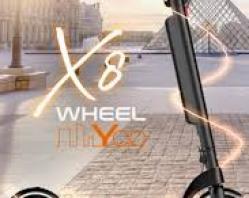 TROTTINETTE ELECTRIQUE WHEELYOO X8 PLIABLE ALU NOIR ROUE 10'' - MOTEUR 36V / 350W -10AH